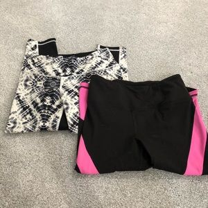 (2) Pair Victoria Secret Capri yoga pants